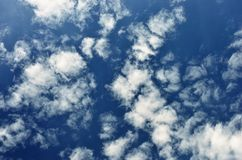 White clouds in blue sky. Royalty Free Stock Photography