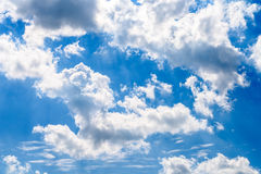 White Clouds On Blue Sky Stock Images