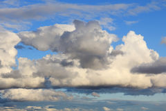 White clouds in blue sky Stock Photography