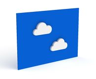 White Clouds on the Blue Sky Board Royalty Free Stock Photography