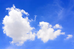 White clouds blue sky Royalty Free Stock Image