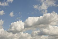 White clouds in blue sky. White clouds in the blue sky close up royalty free stock images