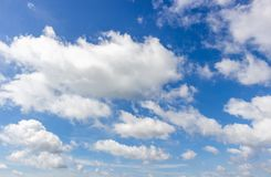 Clouds and sky. White clouds and blue sky royalty free stock photos