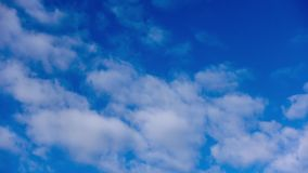 White clouds and blue sky on a cold weather stock video