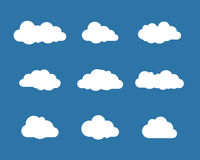White clouds on blue sky collection Stock Image