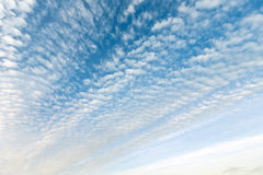 White clouds in blue sky. Stock Images