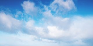 White clouds in blue sky at day royalty free stock photography