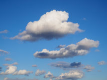 White clouds in blue sky. White clouds in deep blue sky Stock Photo