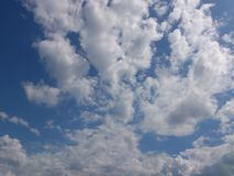 White clouds at blue sky. Royalty Free Stock Photography