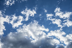 White clouds in the blue sky. Floating clouds in the blue sky Royalty Free Stock Photography