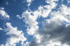 White clouds in the blue sky. Floating clouds in the blue sky Stock Photography