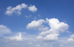 White clouds and blue sky Stock Photos