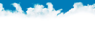 White clouds in the blue sky Stock Photography