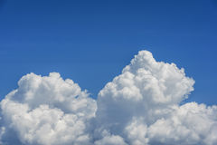 White Clouds on The Blue sky Stock Images