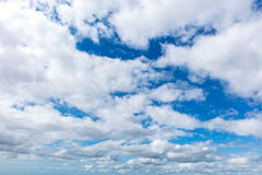 White clouds in blue sky Royalty Free Stock Photos