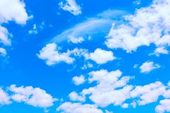 White clouds in the blue sky stock image