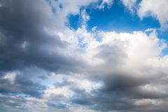 White clouds in blue sky, natural background Stock Photos