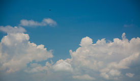 White clouds with blue sky Royalty Free Stock Image
