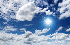 White clouds and blue sky. Stock Photo