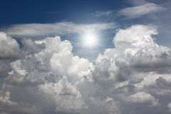 White clouds and blue sky. Royalty Free Stock Photography