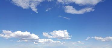 White Clouds in Blue Sky