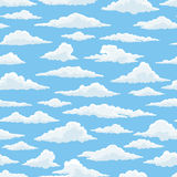 White clouds blue sky seamless pattern Royalty Free Stock Image