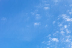 White clouds on a blue sky. Selective focus Royalty Free Stock Images