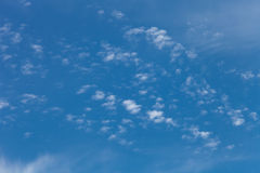 White clouds on a blue sky. Selective focus Royalty Free Stock Photo