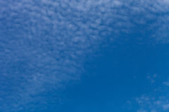 White clouds on a blue sky. Selective focus Royalty Free Stock Photos