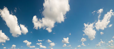 White clouds on blue sky Stock Image