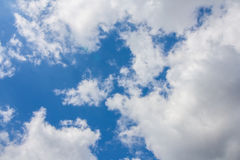 White clouds in the blue sky. Some cumulus clouds in the sky above duesseldorf Stock Photography