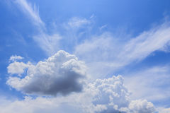 White clouds in blue sky Royalty Free Stock Photo