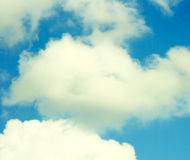White clouds on blue sky Stock Photography