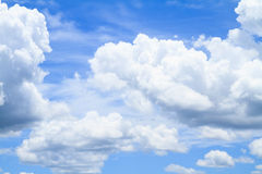 White clouds on blue sky royalty free stock photography