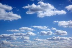 White clouds. Sunny day. Stock Photography