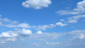 White clouds in the blue sky. stock video footage