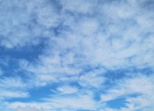White clouds with blue sky royalty free stock images