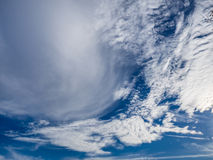 White Clouds in Bright, Blue Sky Royalty Free Stock Images