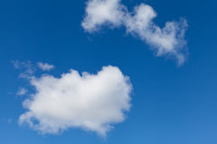 White Clouds on Bright Blue Sky Royalty Free Stock Photos