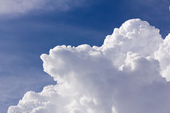 White clouds closeup in blue sky Stock Photos