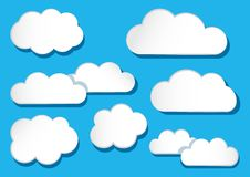 White clouds collection. Vector illustration vector illustration
