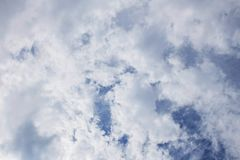 Clouds in daytime. White clouds cover sky in the daytime Royalty Free Stock Photo