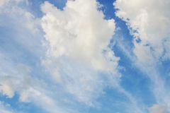 White clouds in daytime. White clouds on sky in the daytime Stock Images