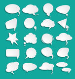 White clouds dialog. For your design Stock Images