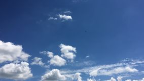 Beautiful clouds with blue sky background. Sky with clouds weather nature cloud blue. Blue sky with clouds and sun stock video