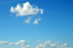 White clouds. Expanse of clouds in the blue sky Royalty Free Stock Photos