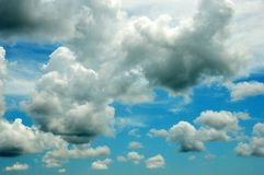 White clouds. Expanse of clouds in the blue sky Royalty Free Stock Images