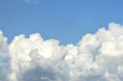 White clouds Stock Image