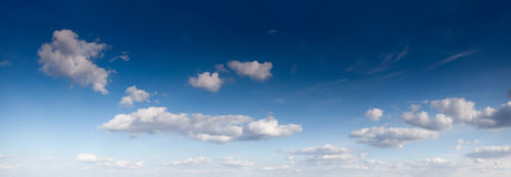 White clouds in the fantastic blue sky. Stock Photo