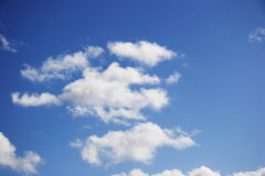 White clouds on a fine day. With blue sky stock photos
